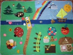 коврик самостоятельно для детей ( массаж и развитие)