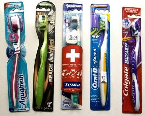 как выбрать зубную щетку - фото