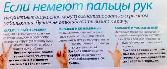 если немеют пальцы рук