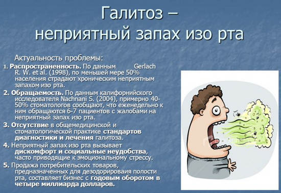 галитоз( неприятный запах изо рта)