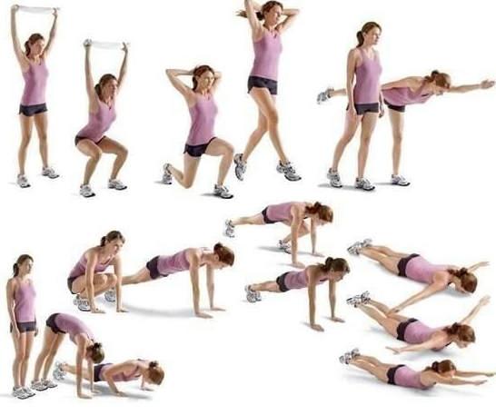 упражнения зарядки для похудения