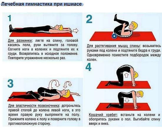 Упражнения седалищный нерв в домашних условиях