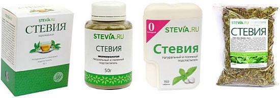 препараты стевии