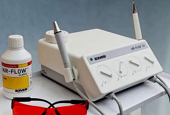 аппарат для пескоструйной чистки зубов