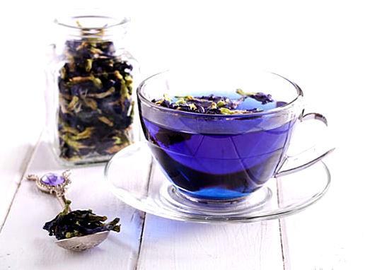 как готовить синий чай