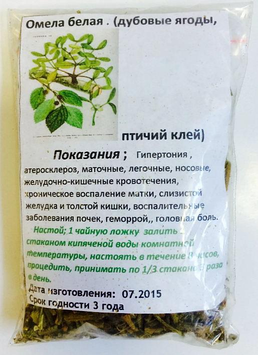 леченые свойства омелы белой