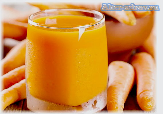 морковный сок польза