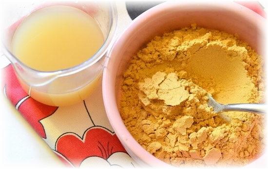 приготовление лепешки с медом и горчицей от кашля