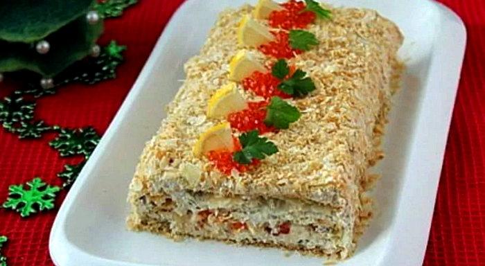 закуски из печени трески - рецепты блюда