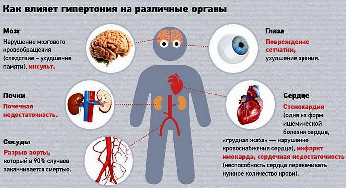 влияние гипертонии на все органы