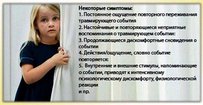 ПТСР у детей симптомы
