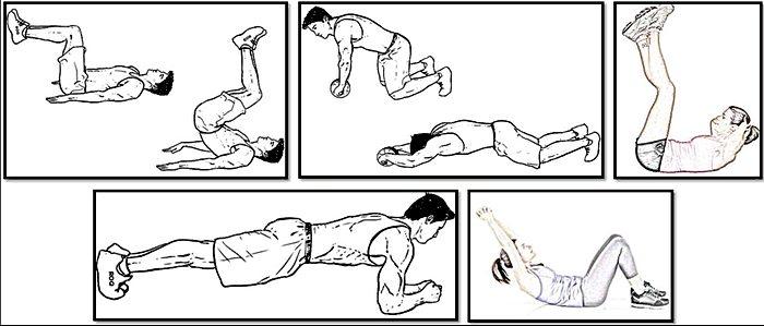 избавиться от пивного живота - упражнения