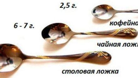 Сколько грамм в столовой, чайной ложке, стакане, некоторых продуктах