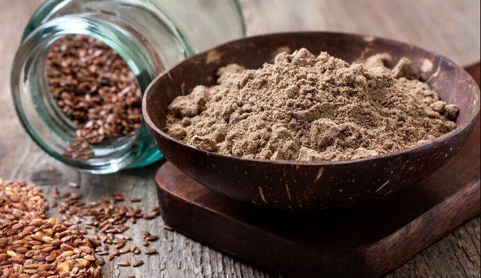 перемолотое семя льна для приготовления каши