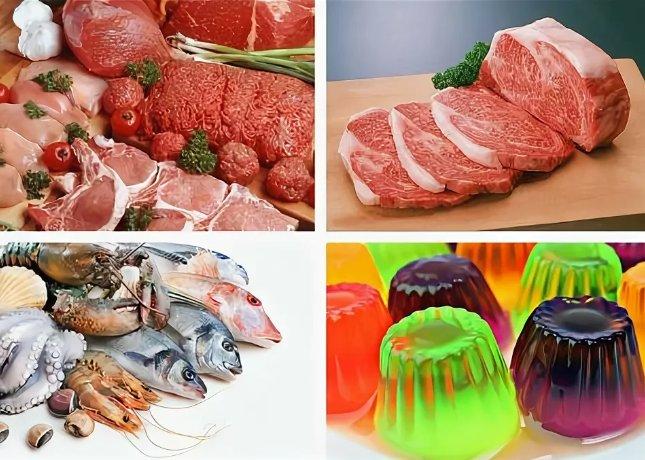 продукты, содержащие коллаген