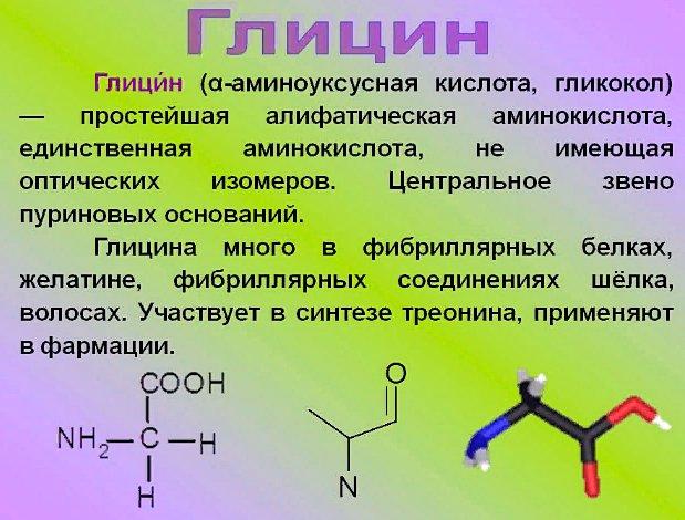 что такое глицин