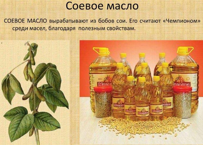 применение соевого масла