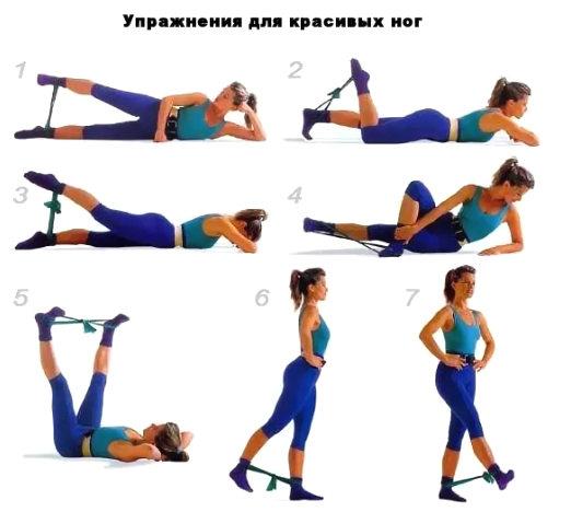упражнения для ног с резинкой для фитнеса